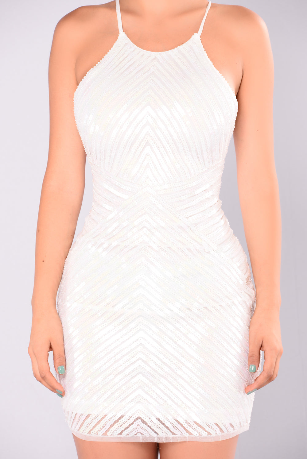 Ice Queen Sequin Dress - White