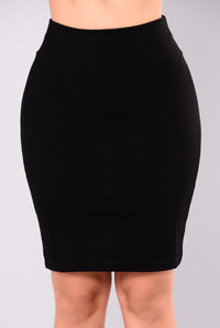 Can Do Both Mini Skirt - Black