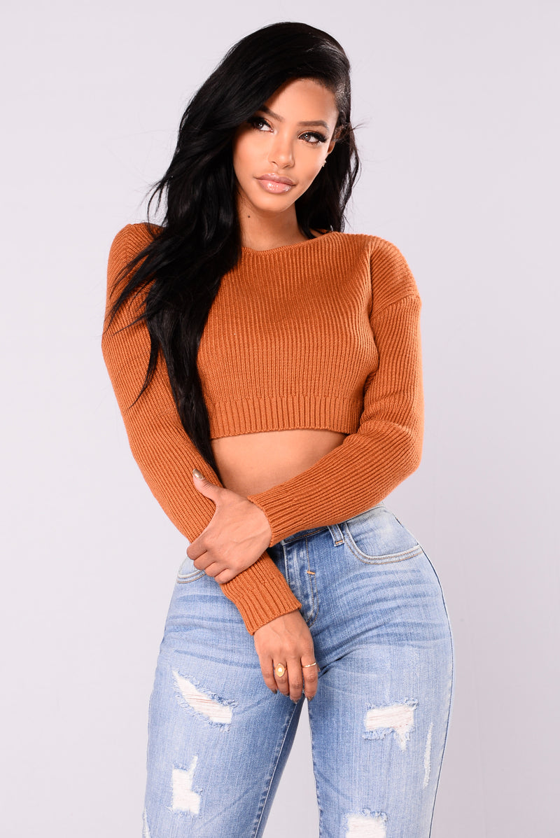 Shea Cropped Sweater - Spice