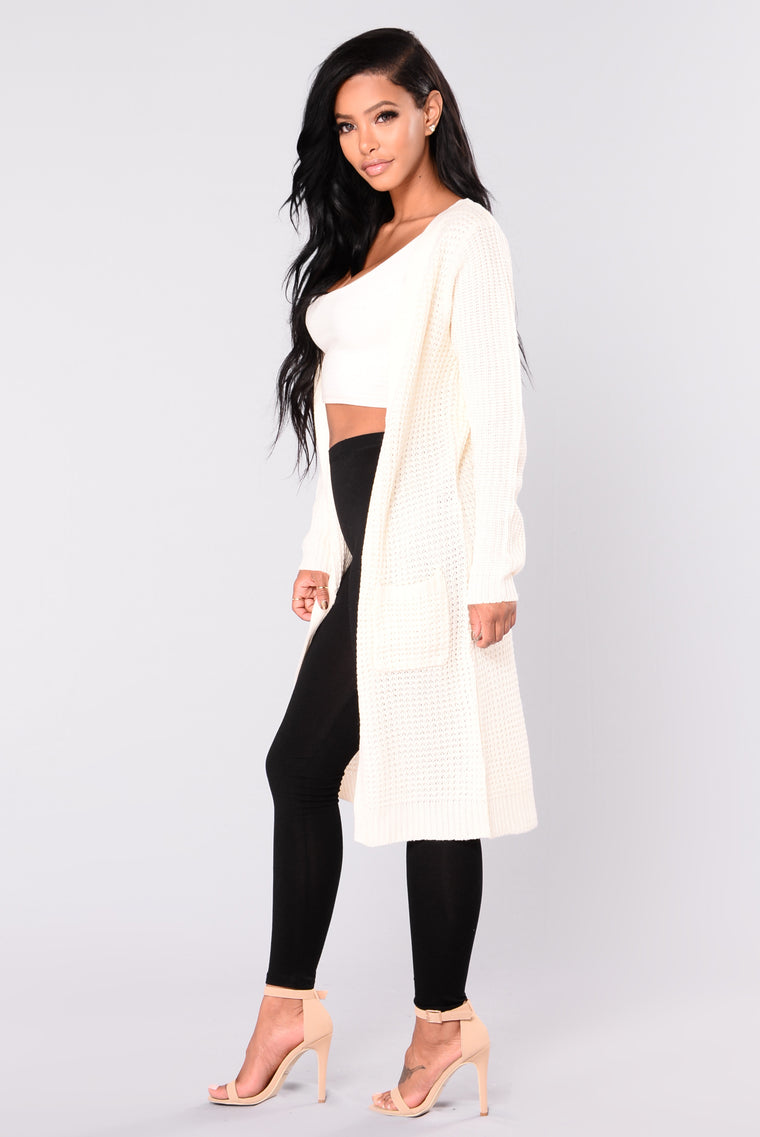 Abella Duster Sweater - Ivory