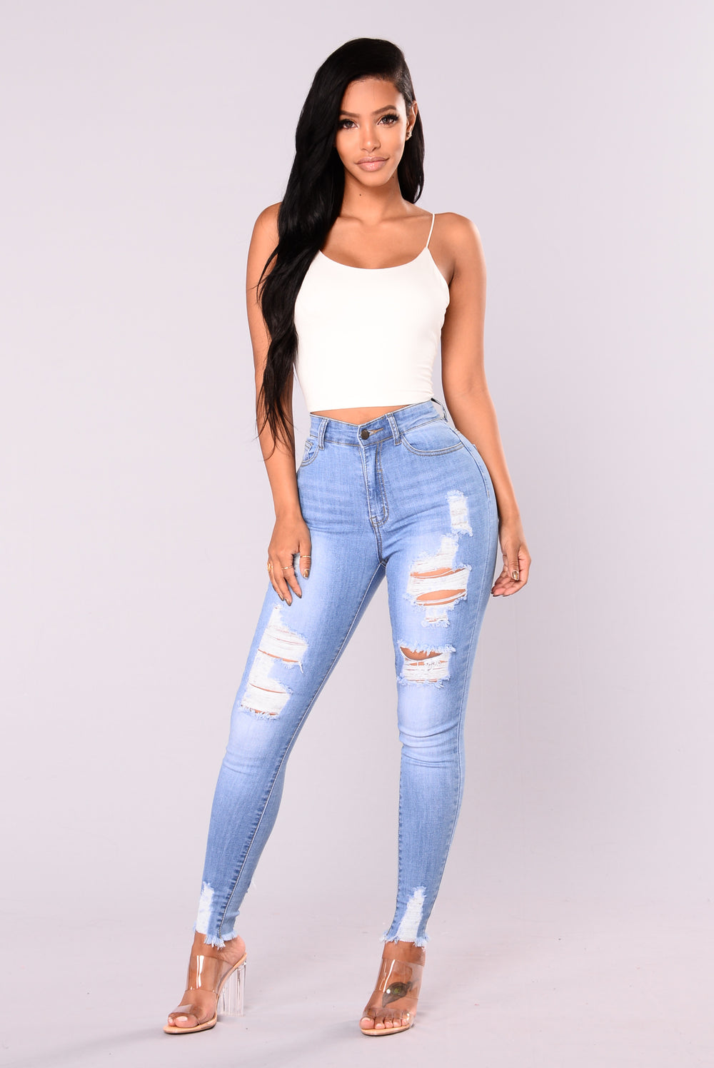 Alyse Distressed Jeans - Medium