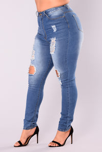 Say Yes To Distress Jeans - Medium Wash Angle 12