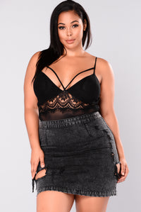 Sheer Bliss Mesh Bodysuit - Black