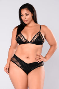 Good Swim Fishnet Bikini - Black
