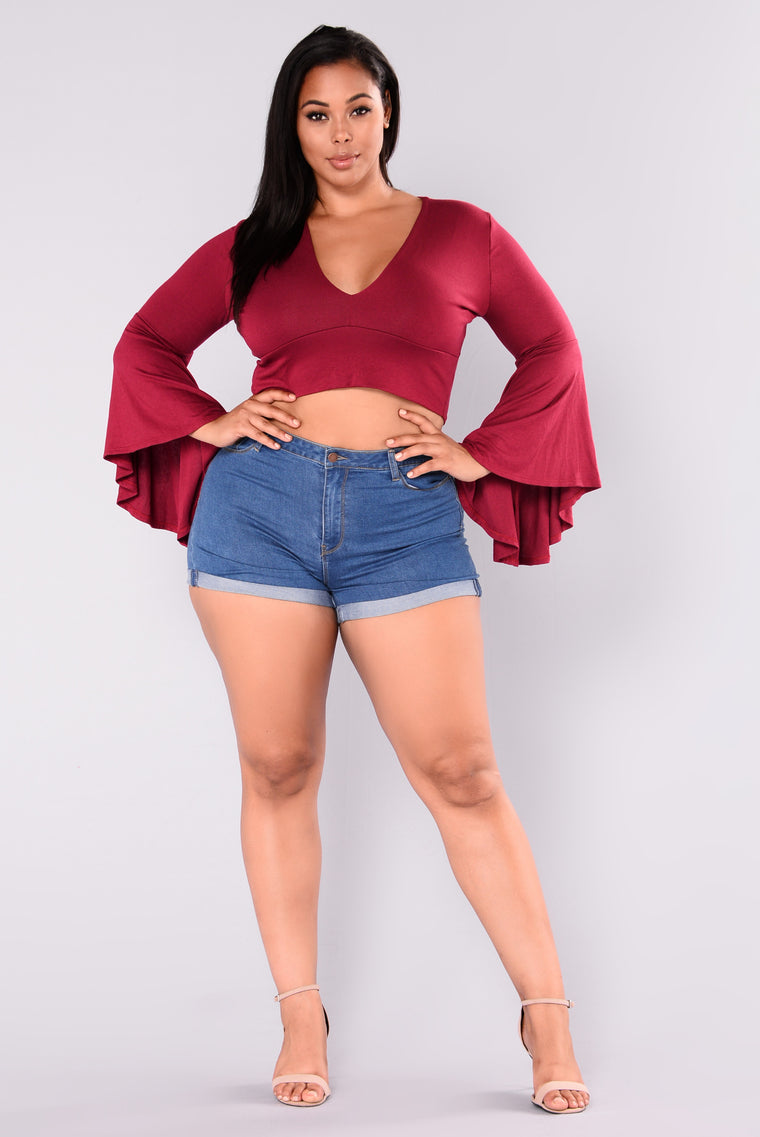 Cha Cha With Me Top - Burgundy