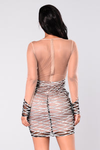 Flux Sequin Dress - Silver