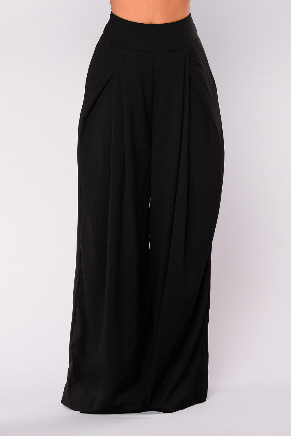 Azura Wide Leg Pant - Black