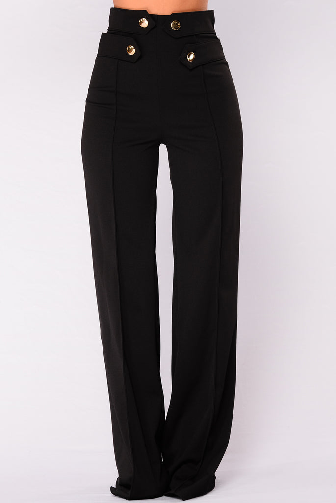 Listen Up Trouser Pants - Black