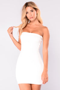 Felicia Ribbed Dress - Ivory
