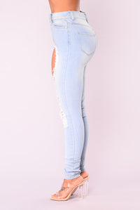 To Do Drama Skinny Jeans - Light Denim