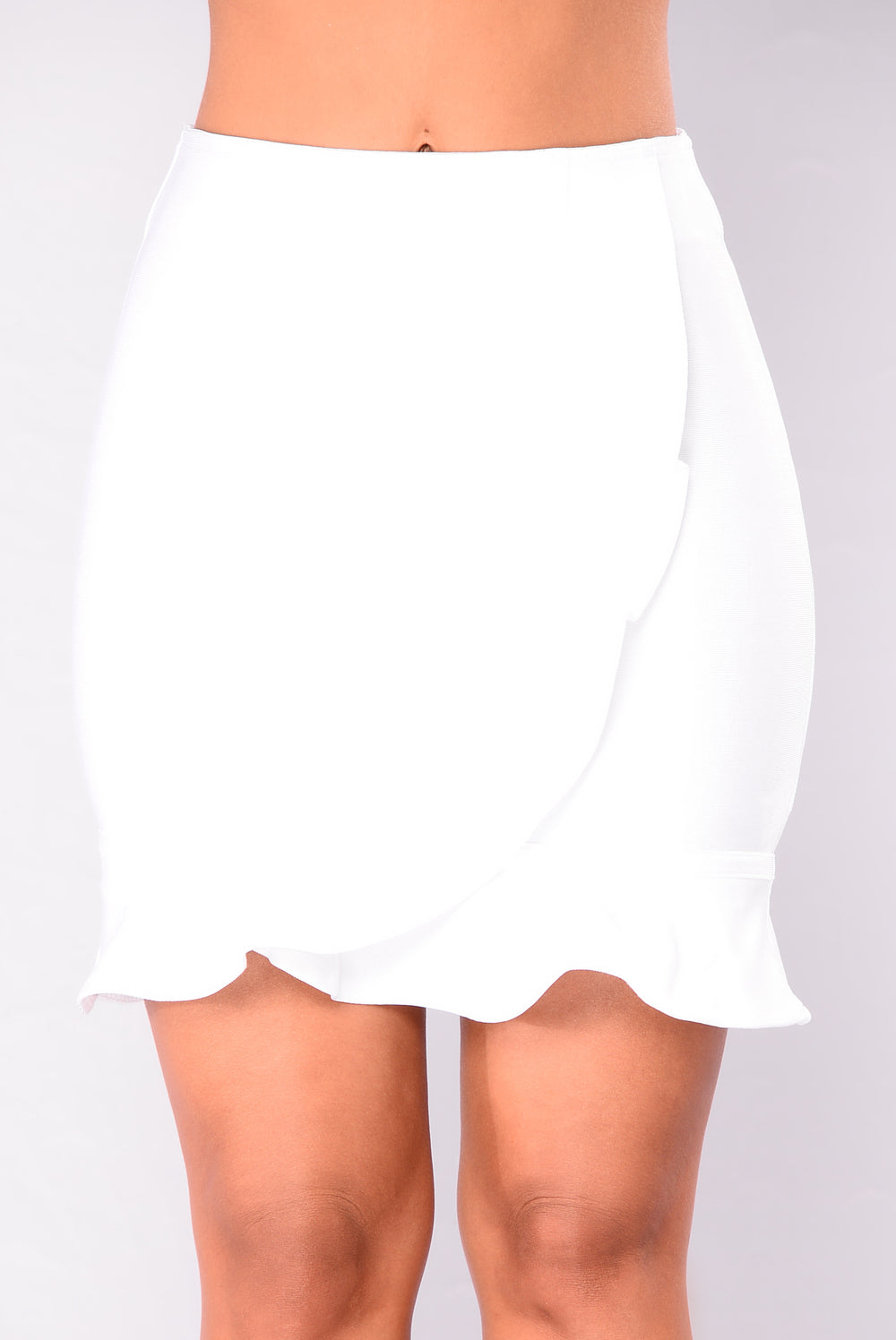 Life On Thrill Bandage Skirt - White