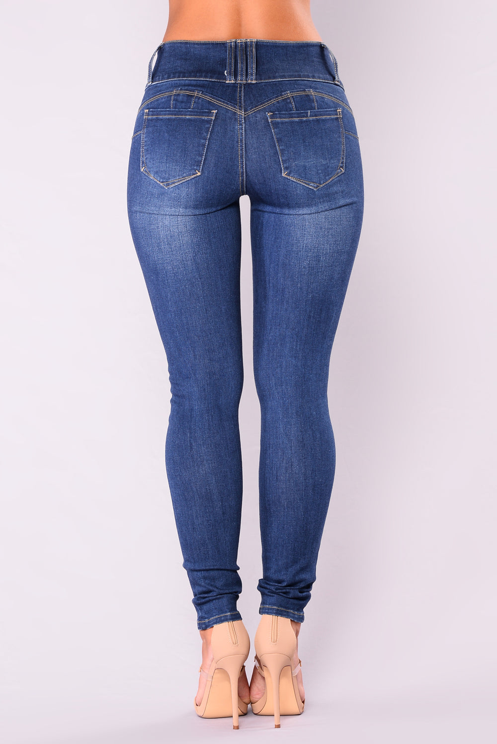 On The Real Booty Shaping Jeans - Medium Denim