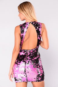 Salma Sequin Dress - Fuchsia