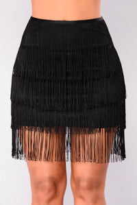Fabrizia Fringe Set - Black
