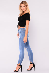 Elora Skinny Jeans - Medium Denim