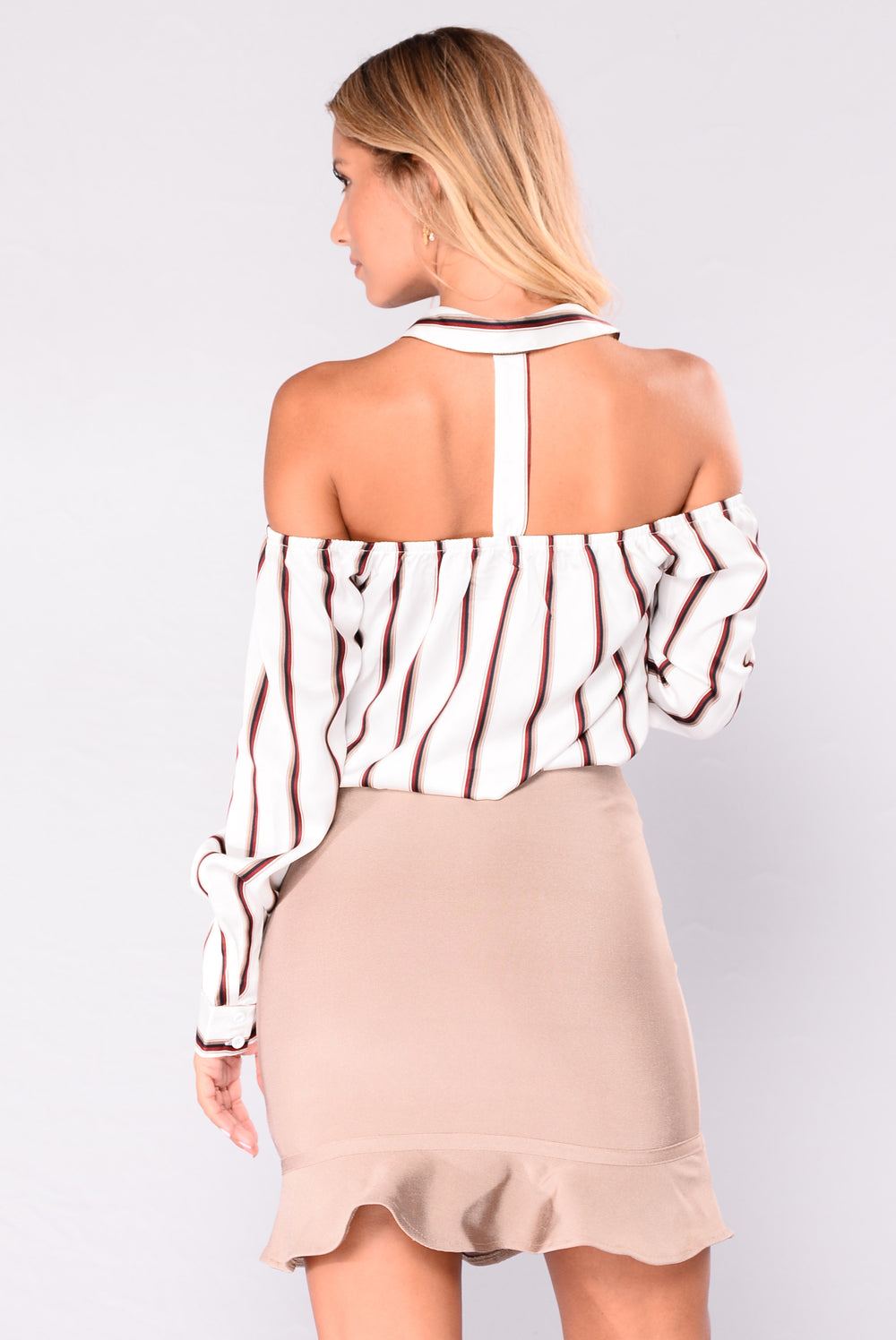 Cora Off Shoulder Top - Cream