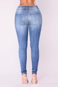 Veronique Skinny Jeans - Medium Blue