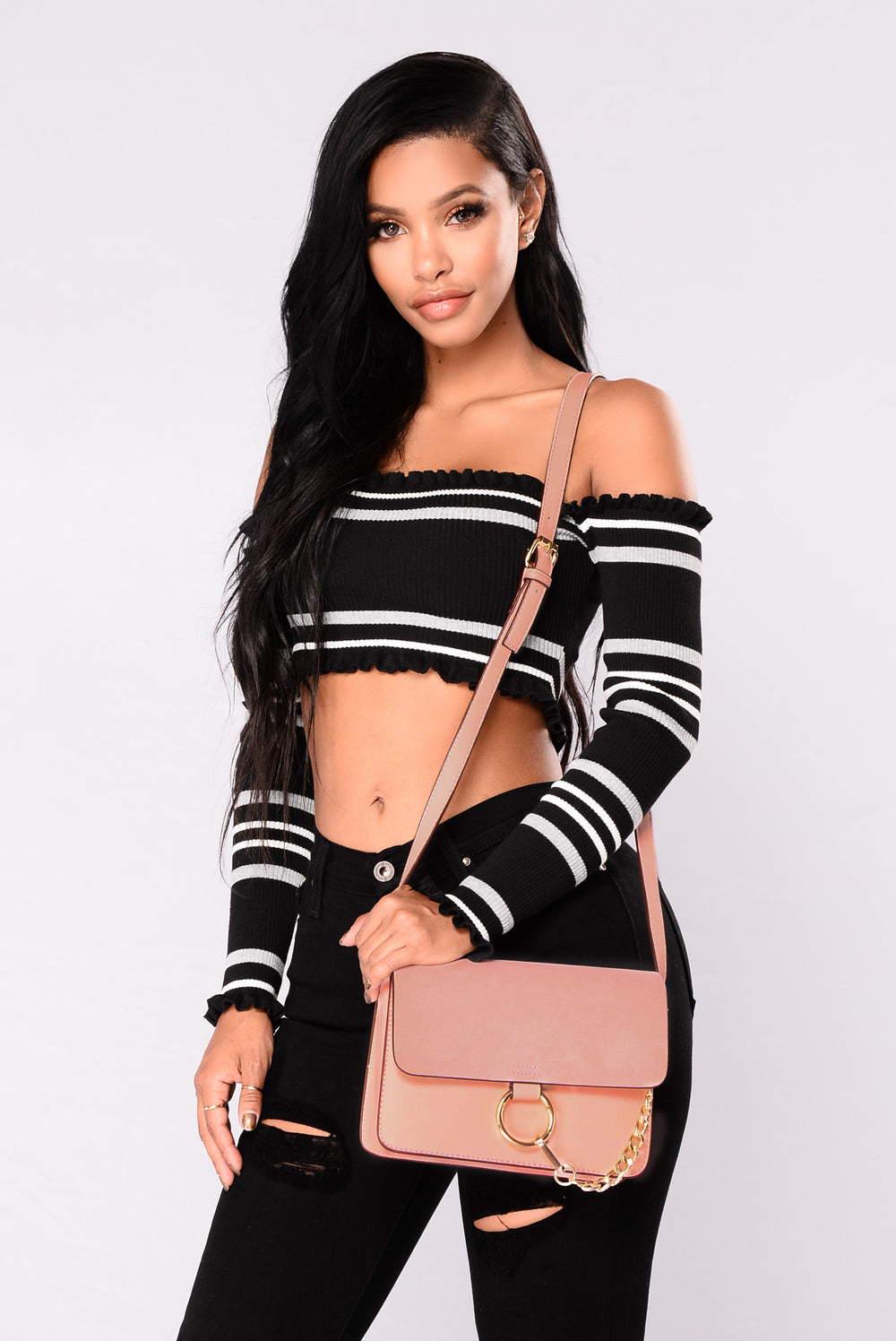 Rayna Cross Body Bag - Pink