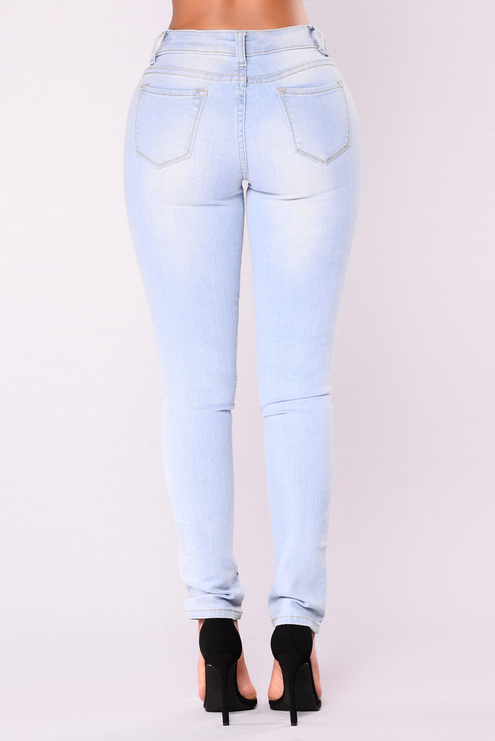 Stay Saucy Skinny Jeans - Light Denim