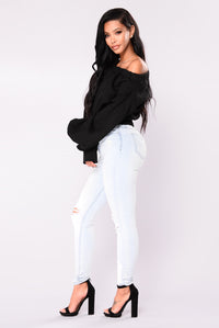 Leyla Off The Shoulder Top - Black
