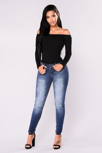 Body Right Booty Shaping Jeans - Dark Denim