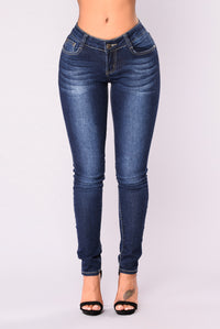 Heatstroke Skinny Jeans - Dark Denim