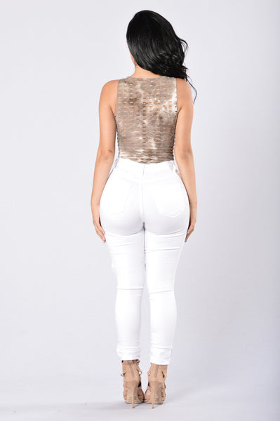 Tough Times Bodysuit - Taupe