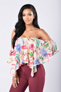 Miss Tropical Top - Ivory