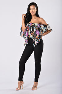 Miss Tropical Top - Black Angle 4