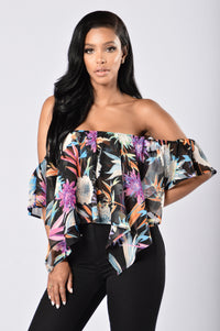 Miss Tropical Top - Black Angle 1