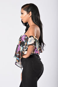 Miss Tropical Top - Black Angle 3