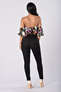 Miss Tropical Top - Black Angle 5