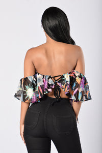 Miss Tropical Top - Black Angle 2