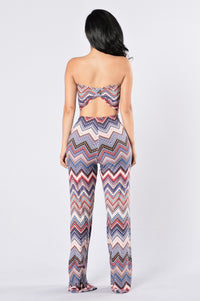 Return to Ibiza Jumpsuit - Burgundy Multi