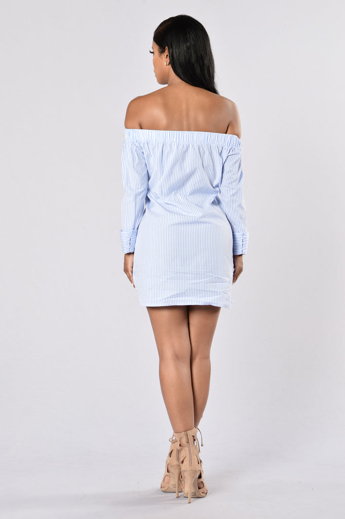 Devil On My Shoulder Dress - Blue