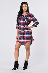 Down South Dress - Navy Angle 1