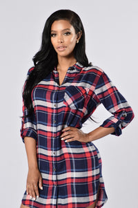 Down South Dress - Navy