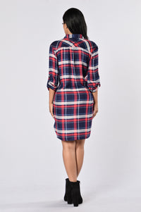 Down South Dress - Navy Angle 5
