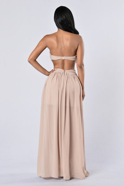 Formally Invited Dress - Taupe