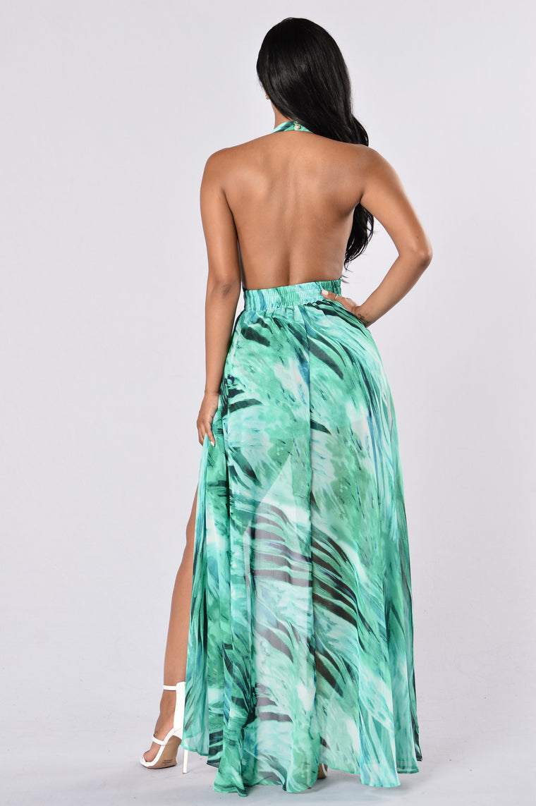 Ocean Flow Romper - Green