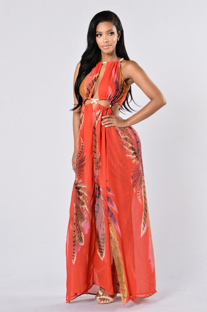 Vacation With Me Dress - Red