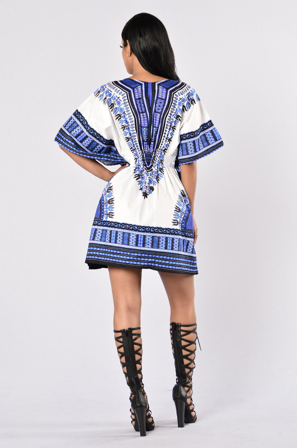 Dashiki - White/Blue