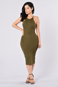 Turn Around Dress - Olive