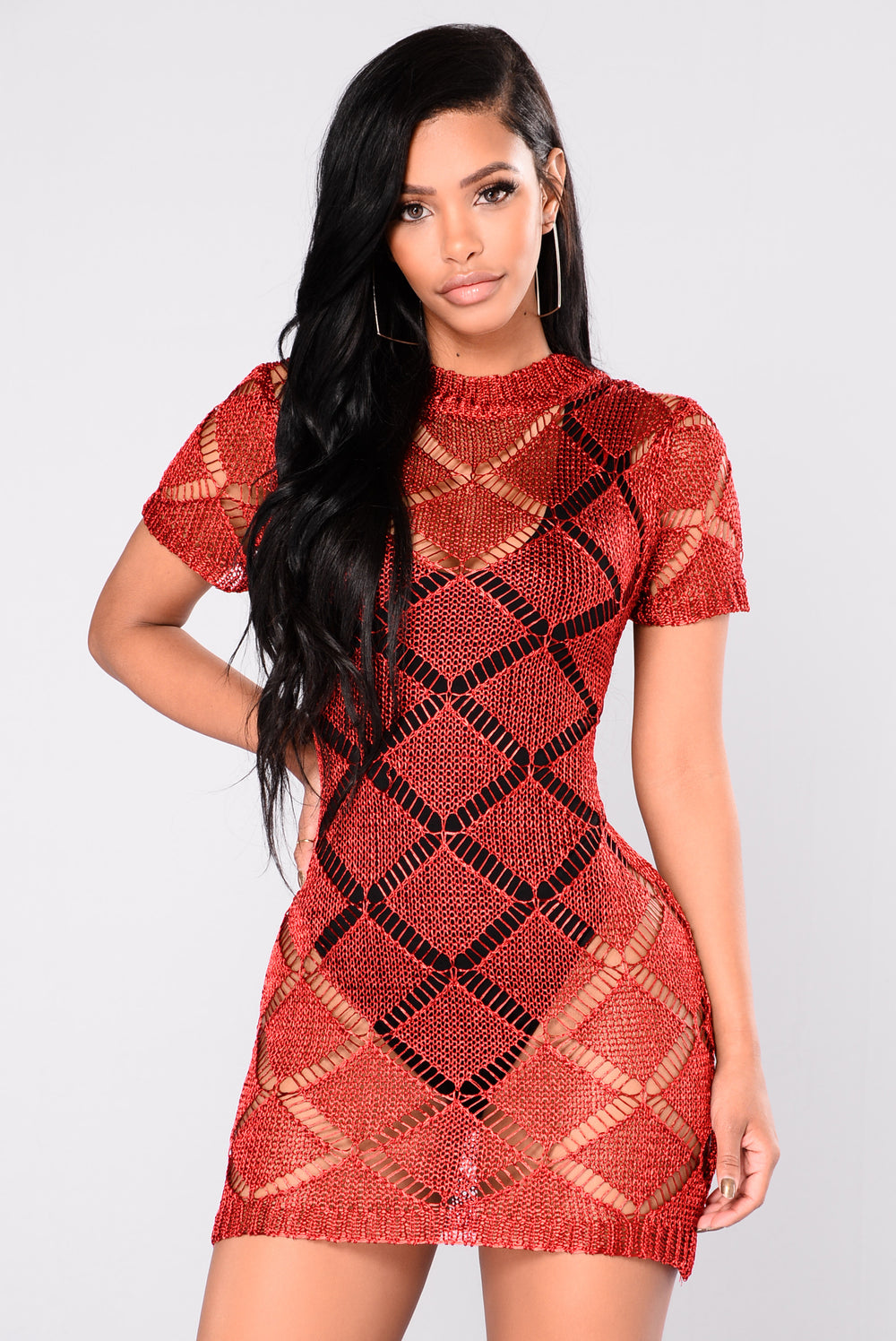 Lips Of Steal Dress - Red
