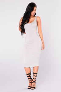 Penny Midi Dress - H.Grey