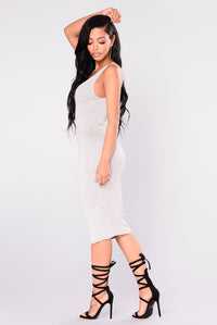 Penny Midi Dress - H.Grey Angle 7