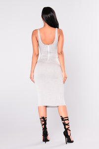 Penny Midi Dress - H.Grey Angle 8