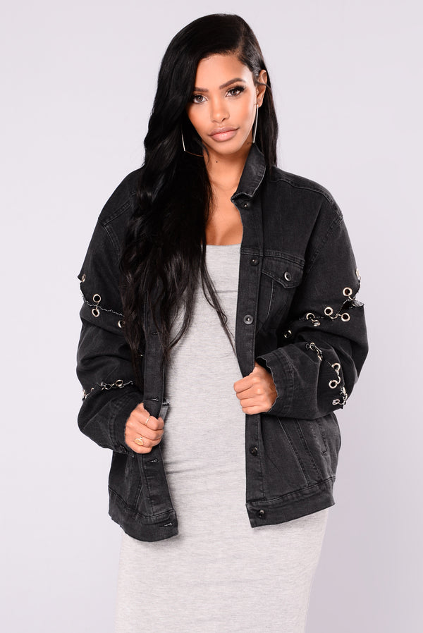 738965b85ab One I Want Denim Jacket - Black