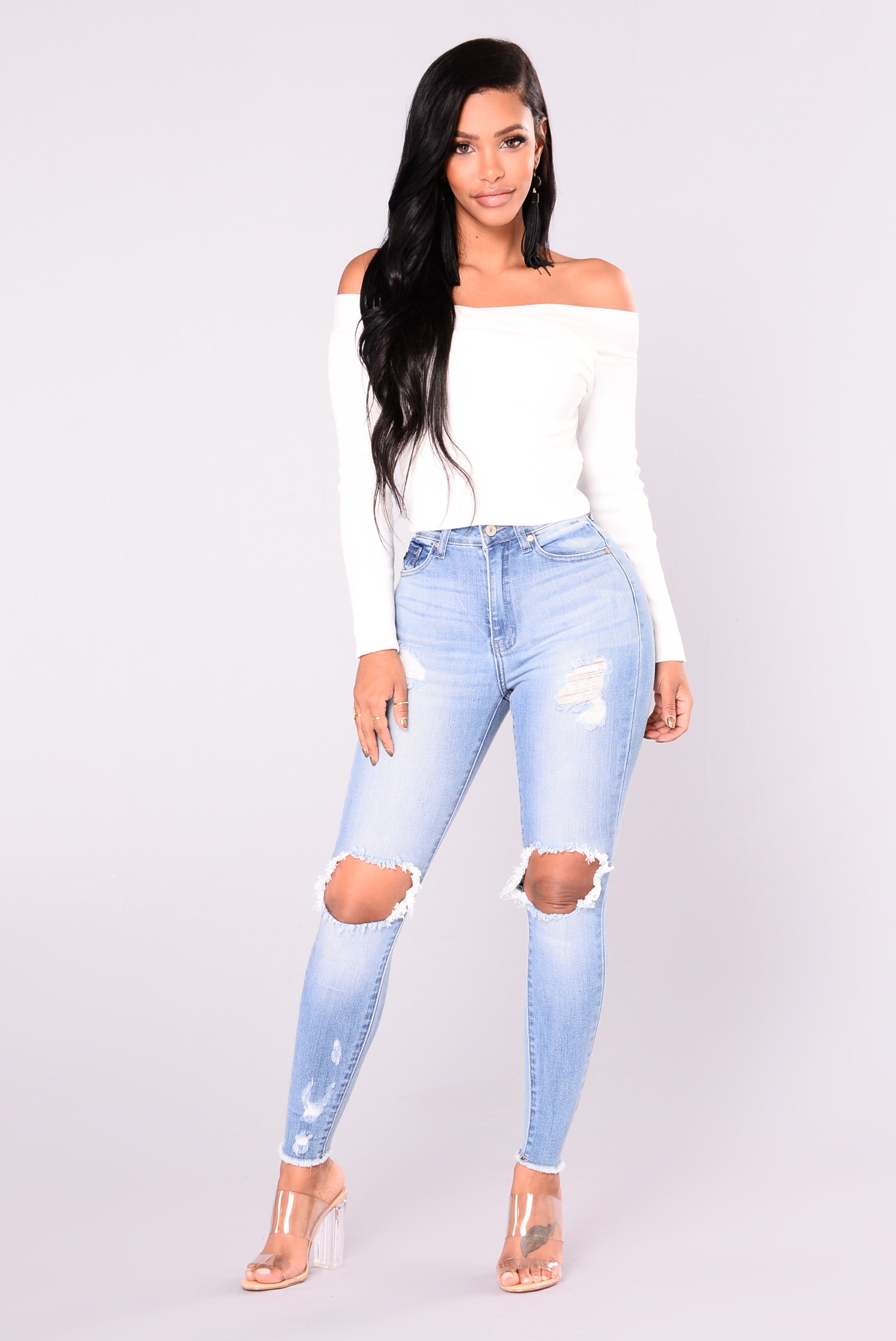 naya skinny jeans  light denim