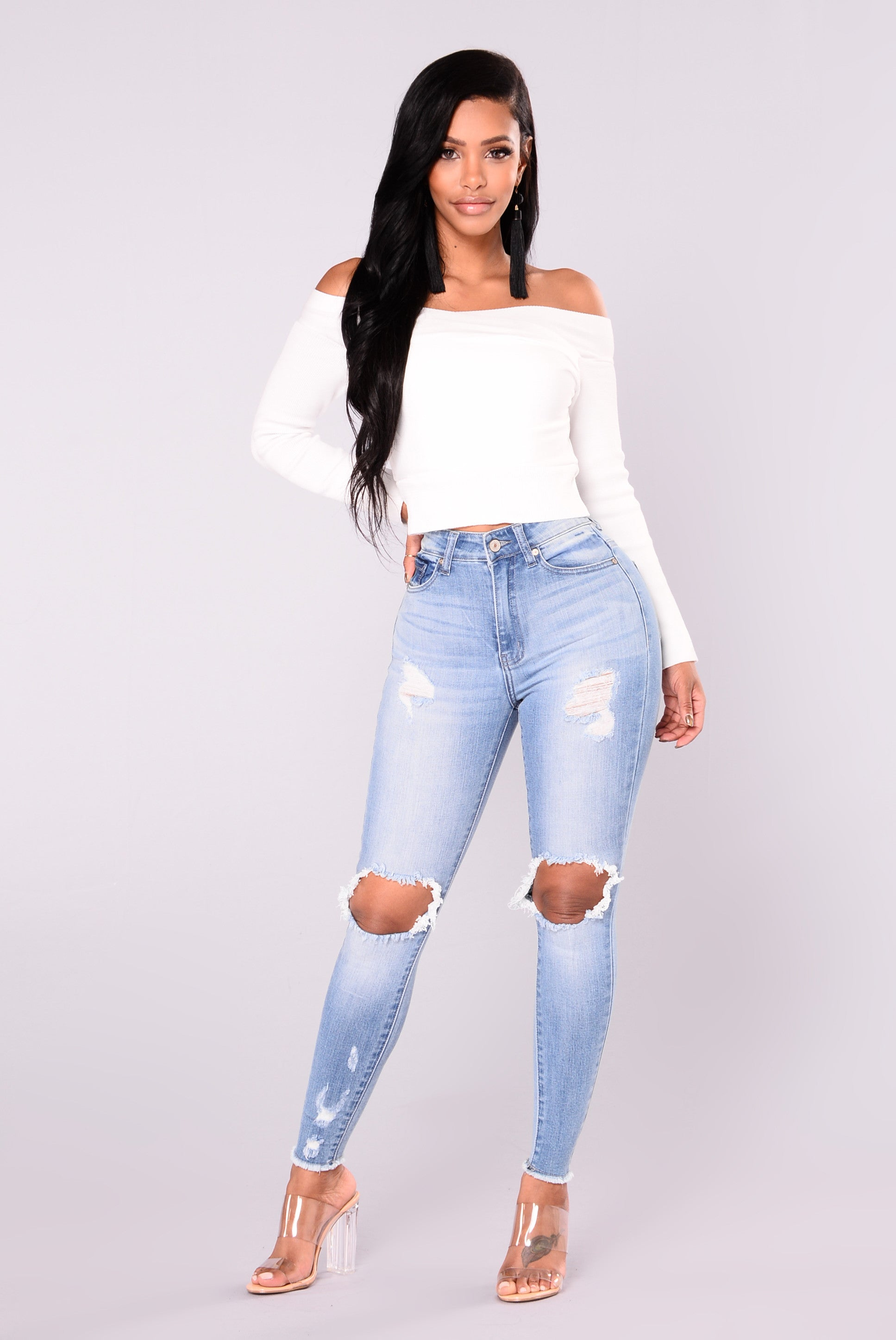 a4161f9b29b7 Cheyanne Off Shoulder Sweater - White